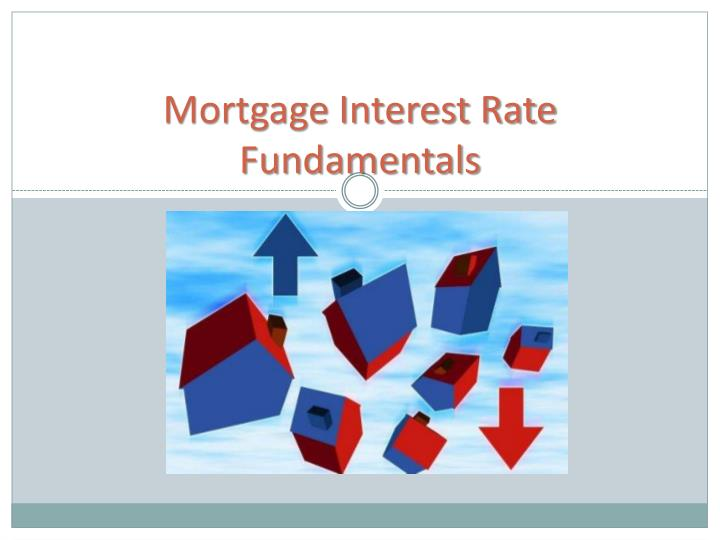 Mortgage interest rate fundamentals