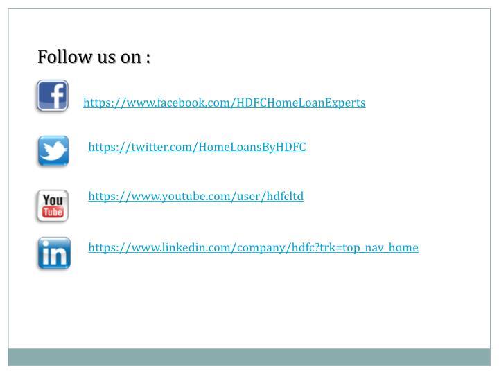 Follow us on :