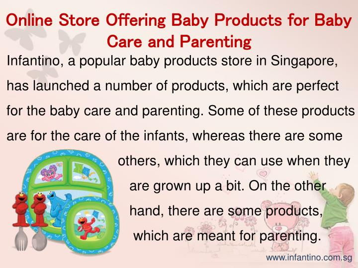 Online Store Offering Baby Products for Baby Care and Parenting