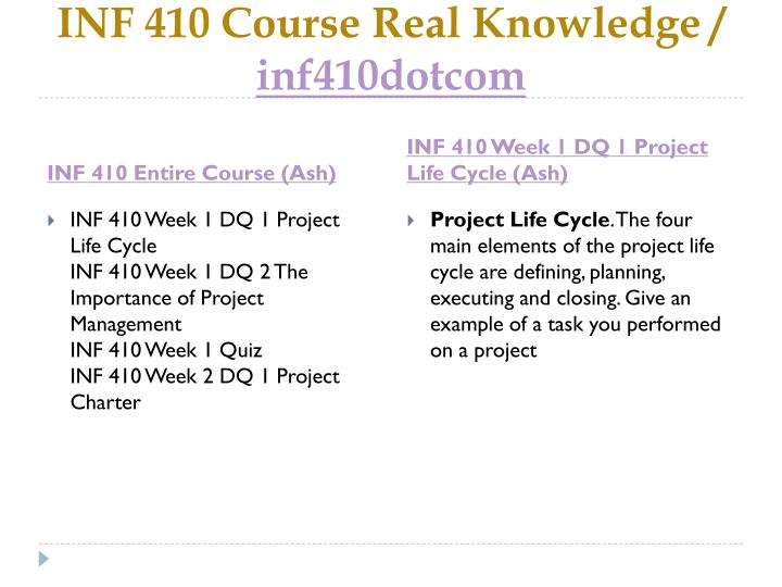 Inf 410 course real knowledge inf410dotcom1