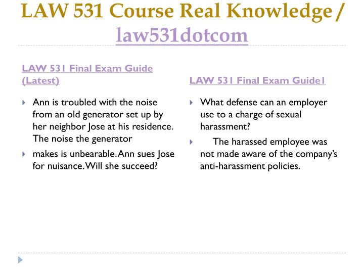 Law 531 course real knowledge law531dotcom2