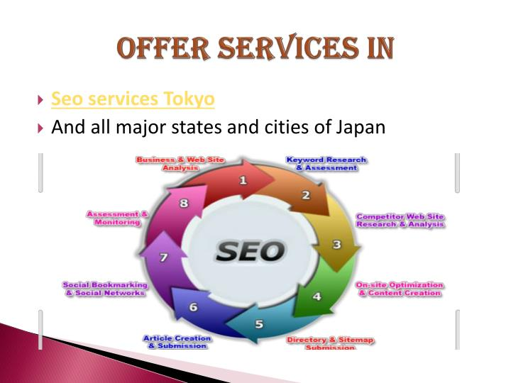 Offer services in