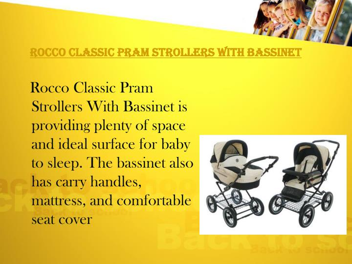 Rocco Classic Pram Strollers With Bassinet