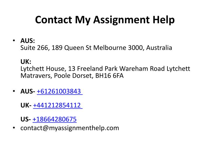 Contact My Assignment Help