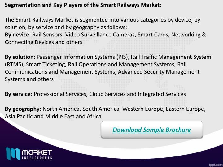 Segmentation and Key Players of the Smart Railways Market: