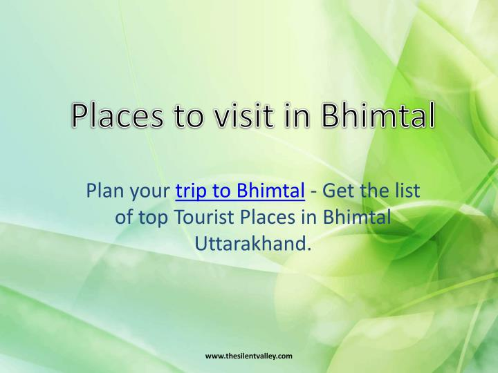 Places to visit in bhimtal