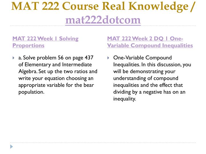 Mat 222 course real knowledge mat222dotcom2