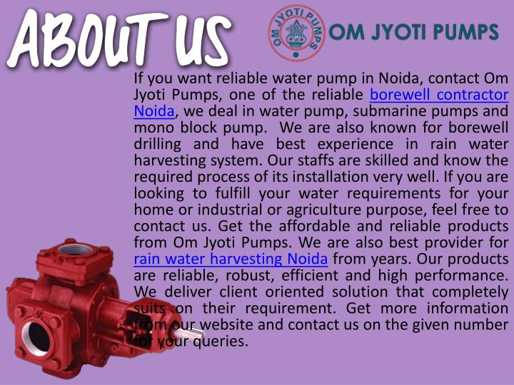If you want reliable water pump in