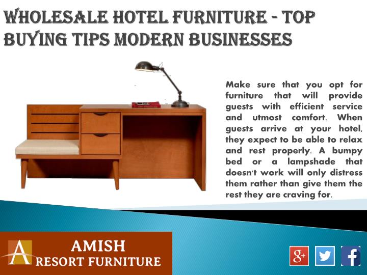Wholesale Hotel Furniture - Top Buying Tips Modern Businesses