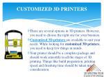 customized 3d printers