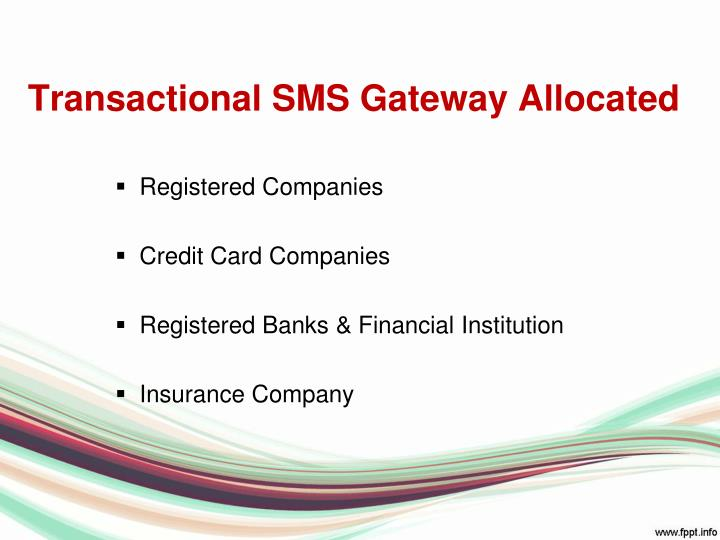 Transactional SMS Gateway Allocated