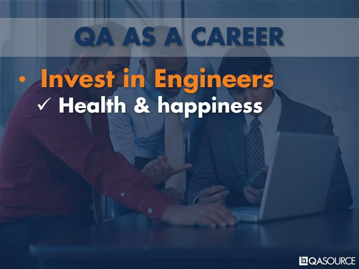 QA AS A CAREER