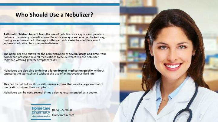 Who Should Use a Nebulizer?