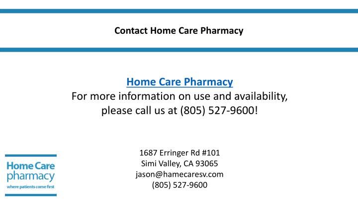 Contact Home Care Pharmacy