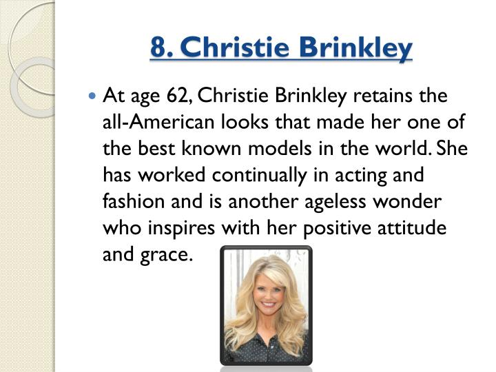 8. Christie Brinkley
