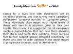 family members suffer as well