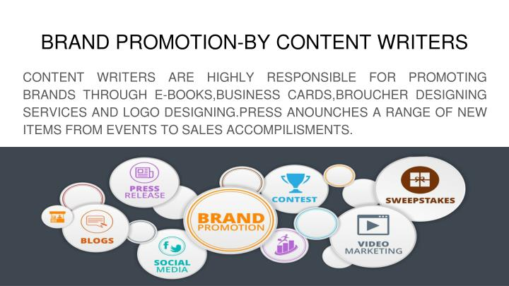 BRAND PROMOTION-BY CONTENT WRITERS