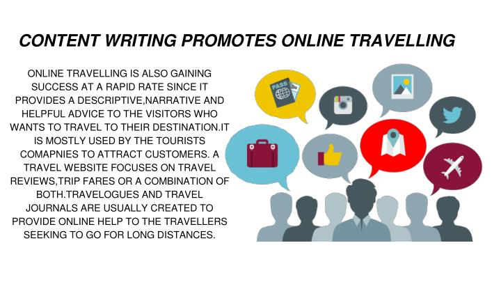 CONTENT WRITING PROMOTES ONLINE TRAVELLING