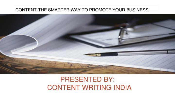 CONTENT-THE SMARTER WAY TO PROMOTE YOUR BUSINESS