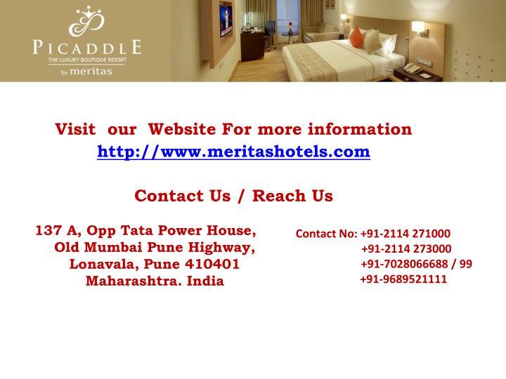Contact No: +91-2114 271000