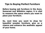 tips to buying perfect furniture
