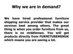 why we are in demand