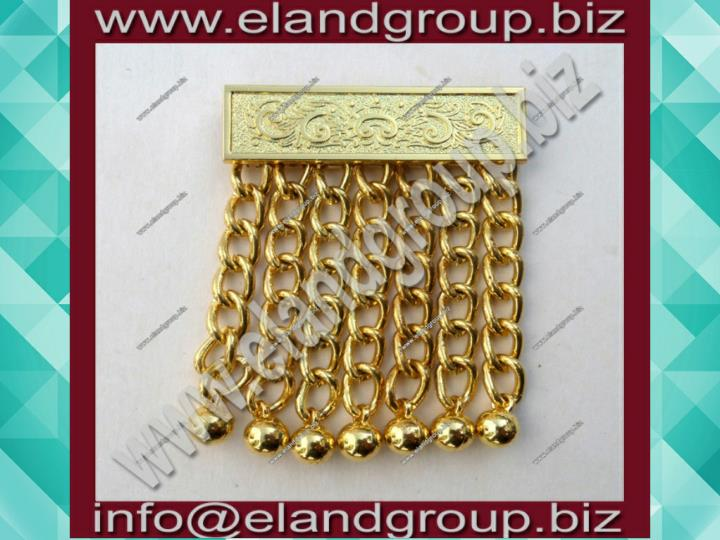 Masonic apron chain tassels gold finish