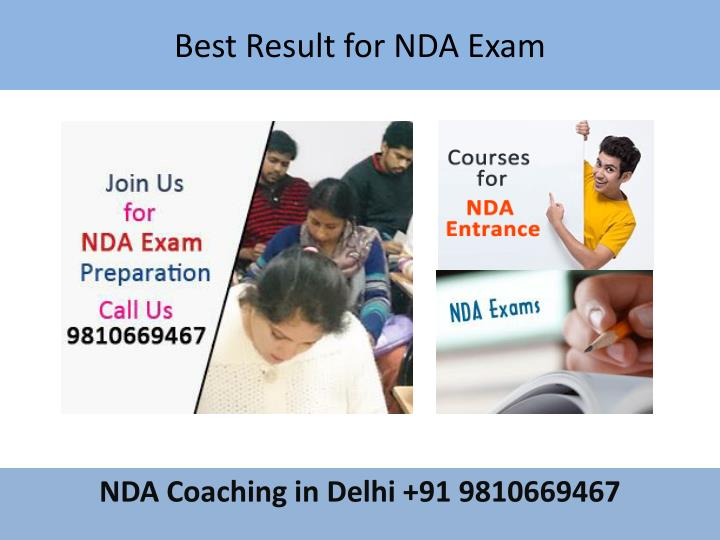 Best Result for NDA Exam