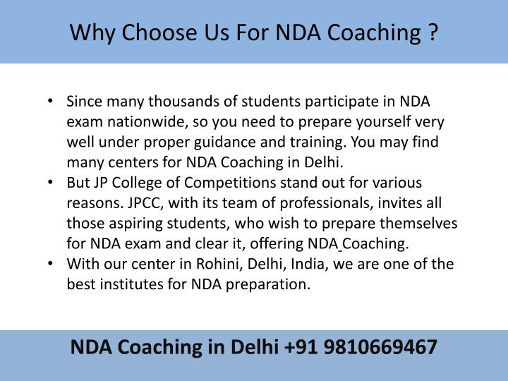 Why Choose Us For NDA Coaching ?