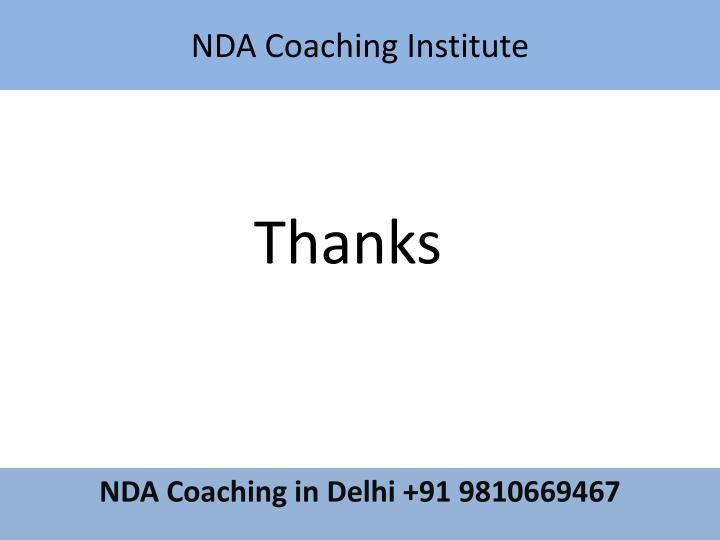 NDA Coaching Institute