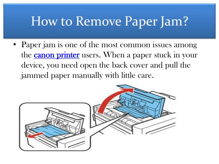 How to remove paper jam