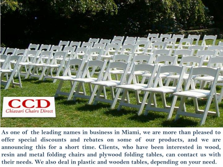 As one of the leading names in business in Miami, we are more than pleased to offer special discount...