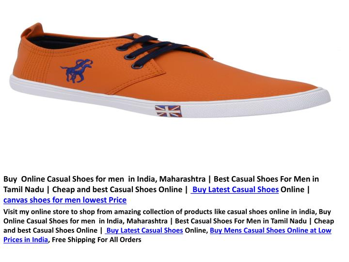 Buy  Online Casual Shoes for men  in India, Maharashtra | Best Casual Shoes For Men in Tamil Nadu | Cheap and best Casual Shoes Online |