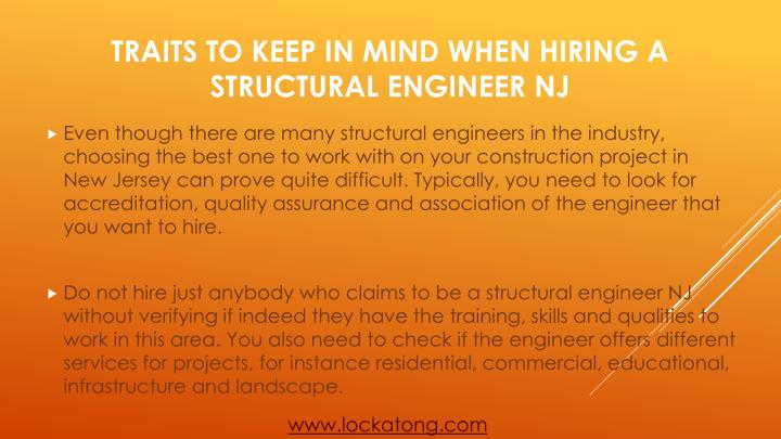 Traits to keep in mind when hiring a structural engineer nj1
