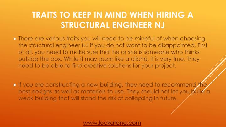Traits to keep in mind when hiring a structural engineer nj2