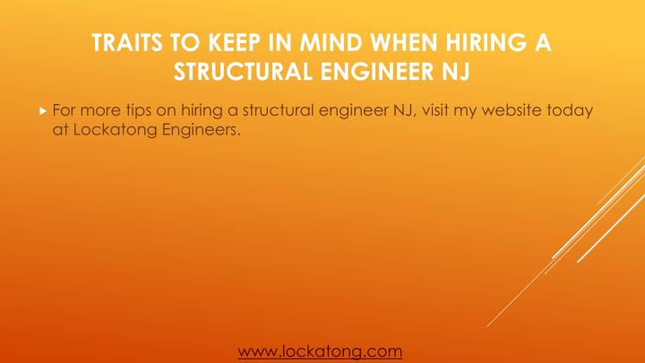 For more tips on hiring a structural engineer NJ, visit my website today at