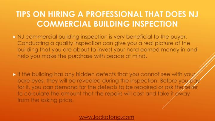Tips on hiring a professional that does nj commercial building inspection1