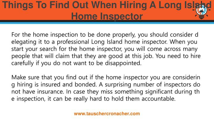 Things to find out when hiring a long island home inspector1