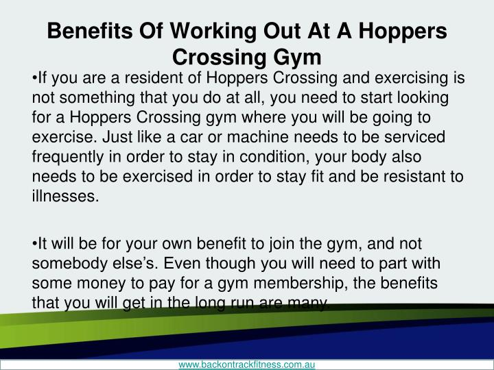 Benefits of working out at a hoppers crossing gym1