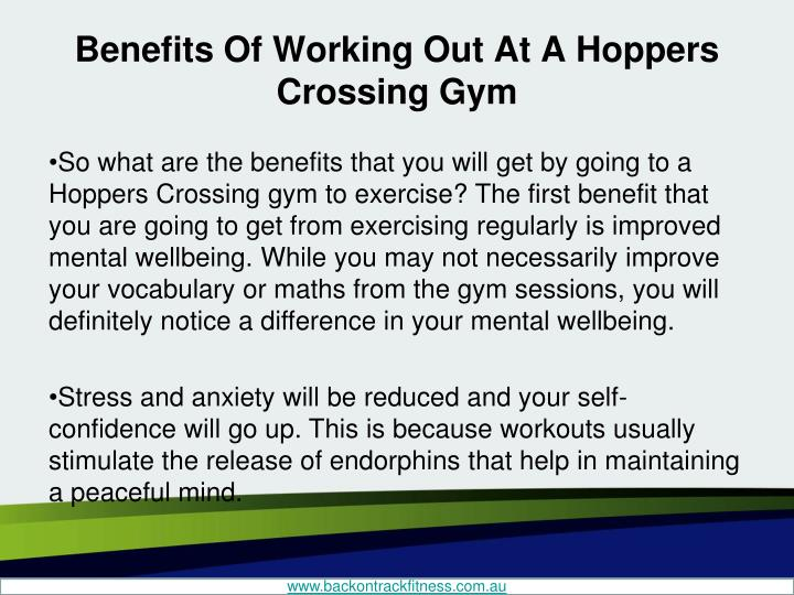 Benefits of working out at a hoppers crossing gym2
