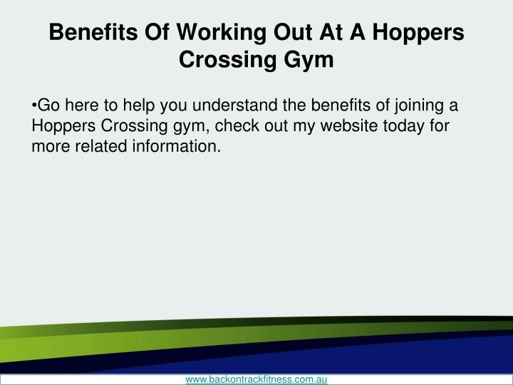 Benefits Of Working Out At A Hoppers Crossing Gym