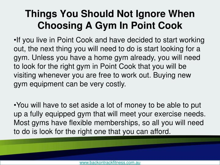 Things you should not ignore when choosing a gym in point cook1