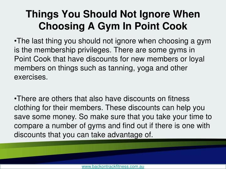 Things You Should Not Ignore When Choosing A Gym In Point Cook