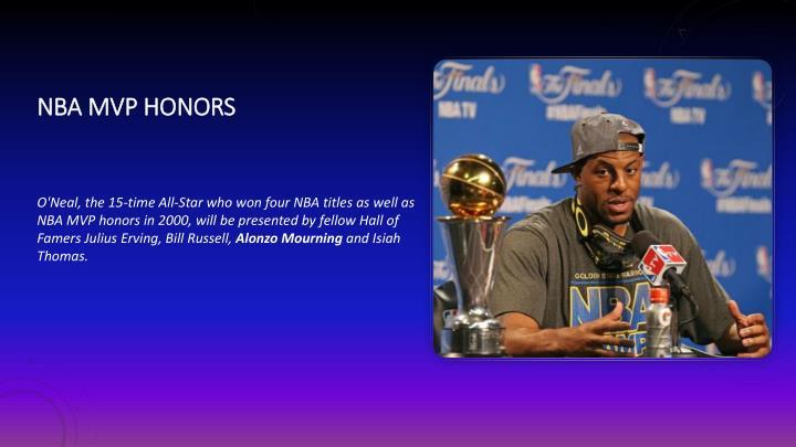 NBA MVP honors