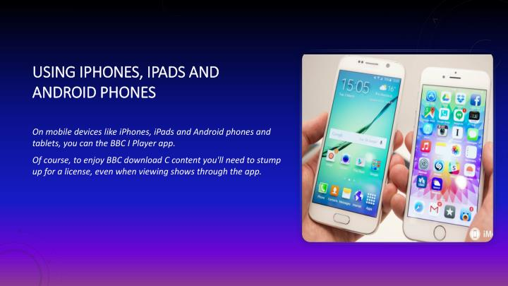 using iPhones, iPads and Android phones
