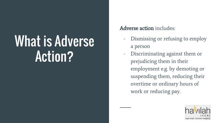 Adverse action