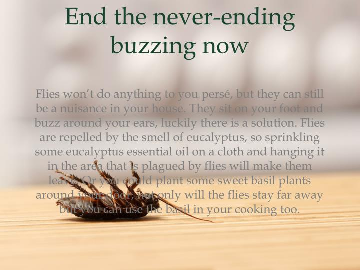 End the never-ending buzzing