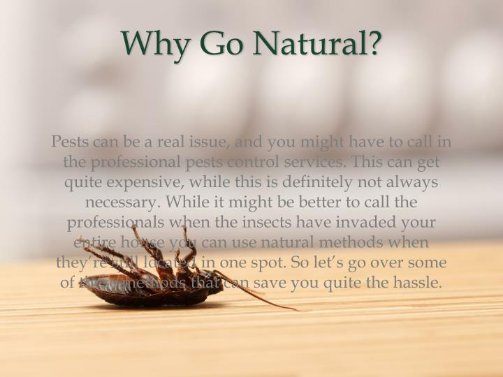 Why Go Natural?