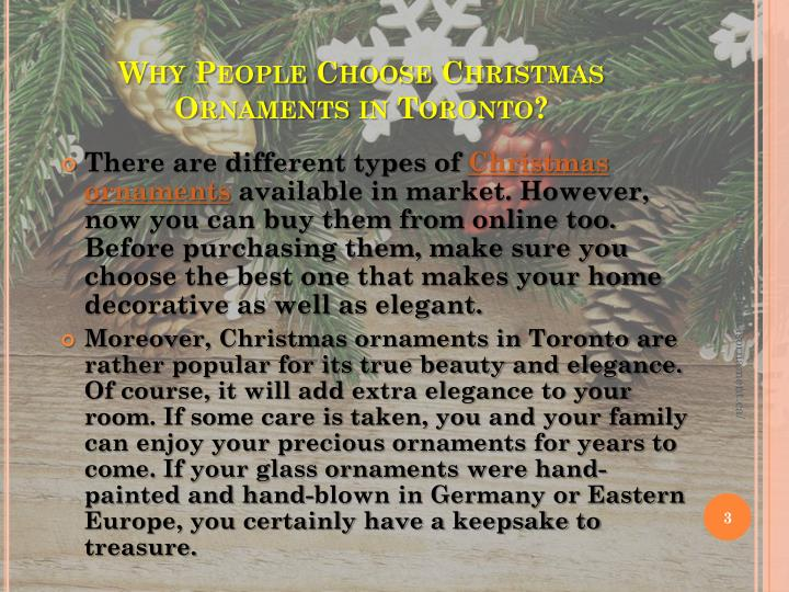 Why People Choose Christmas Ornaments in Toronto?