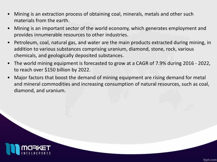 Mining is an extraction process of obtaining coal, minerals, metals and other such materials from th...